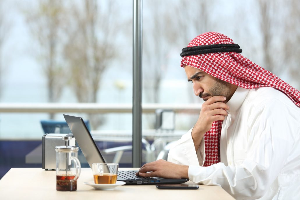 Arab doing research