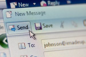Common email client send window closeup shot ** Note: Slight blurriness, best at smaller sizes